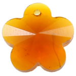 CRYSTALLIZED™ Element Crystal Pendants, Flower, Fire Opal, 14x14x8mm, Hole:Approx 1mm, Sold By PC