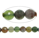 Natural Indian Agate Beads, Round, faceted, 6mm, Hole:Approx 1mm, Length:Approx 15 Inch, 10Strands/Lot, Approx 61PCs/Strand, Sold By Lot