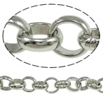 Iron Rolo Chain, platinum color plated, nickel, lead & cadmium free, 10x3mm, 10m/Lot, Sold By Lot