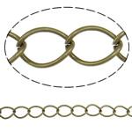 Żelazny drut na pętli, żelazo, Owal, Platerowane kolorem starego brązu, bez zawartości niklu, ołowiu i kadmu, 14x10x1.40mm, długość:25 m