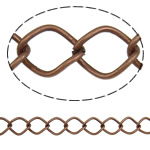 Iron Rhombus Chain, antique copper color plated, nickel, lead & cadmium free, 12.50x10x1.40mm, Length:25 m