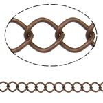 Iron Rhombus Chain, antique copper color plated, nickel, lead & cadmium free, 8x10.20x1.40mm, Length:25 m