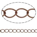 Żelazny drut na pętli, żelazo, Owal, Platerowane kolorem starej miedzi, bez zawartości niklu, ołowiu i kadmu, 10x14x0.80mm, długość:25 m