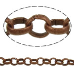 Iron Rolo Chain, antique copper color plated, nickel, lead & cadmium free, 3.50x1mm, Length:100 m