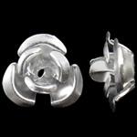 Aluminium bloem kralen, zilver, 8x8.50x5mm, Gat:Ca 1.1mm, 950pC's/Bag, Verkocht door Bag