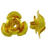 Alumiini kukka helmiä, maalannut, kulta, 12x11.50x6mm, Reikä:N. 1.3mm, 950PC/laukku, Myymät laukku