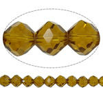 Imitation CRYSTALLIZED™ Element Crystal Beads, Bicone, faceted & imitation CRYSTALLIZED™ crystal, Smoked Topaz, 12mm, Hole:Approx 1.5mm, 72PCs/Strand, Sold Per 32 Inch Strand