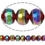 Jäljitelmä CRYSTALLIZED™ kristalli helmiä, Rondelli, värikäs päällystetty, kasvot & jäljitelmä CRYSTALLIZED™n, 12x9mm, Reikä:N. 1.8mm, 32PC/Strand, Myyty Per 11.5 tuuma Strand