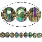 Imitation CRYSTALLIZED™ Element Crystal Beads, Rondelle, colorful plated, faceted & imitation CRYSTALLIZED™ element crystal, 12x9mm, Hole:Approx 1.8mm, 33PCs/Strand, Sold Per 12 Inch Strand
