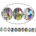 Imitation CRYSTALLIZED™ Element Crystal Beads, Rondelle, colorful plated, faceted & imitation CRYSTALLIZED™ crystal, 12x9mm, Hole:Approx 1.8mm, 32PCs/Strand, Sold Per 11.5 Inch Strand