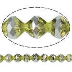 Imitation CRYSTALLIZED™ Element Crystal Beads, Bicone, platinum color plated, faceted & imitation CRYSTALLIZED™ element crystal, Jonquil, 10mm, Hole:Approx 1.5mm, 33PCs/Strand, Sold Per 12.5 Inch Strand