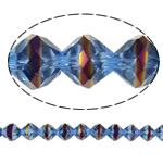 Jäljitelmä CRYSTALLIZED™ kristalli helmiä, Bicone, värikäs päällystetty, kasvot & jäljitelmä CRYSTALLIZED™n, 10mm, Reikä:N. 1.5mm, 33PC/Strand, Myyty Per 12 tuuma Strand