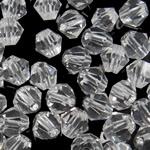 Koraliki z kryształów CRYSTALLIZED™ego, CRYSTALLIZED™, Podwójny stożek, kryształowy, 5mm, otwór:około 0.8mm, 50komputery/torba, sprzedane przez torba