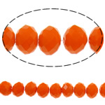 Imitation CRYSTALLIZED™ Element Crystal Beads, Rondelle, faceted & imitation CRYSTALLIZED™ element crystal, Fire Opal, 6x8mm, Hole:Approx 1mm, Length:16.5 Inch, 10Strands/Bag, Sold By Bag