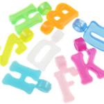 Plastikowe zawieszki, Plastik, mieszane kolory, 17x9.50x5mm, otwór:około 2.7mm, 2700komputery/torba, sprzedane przez torba