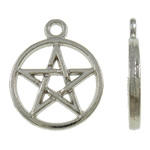 Zinc Alloy Pendants, antique silver color plated, nickel, lead & cadmium free, 22x18x2mm, Hole:Approx 2mm, Approx 585PCs/KG, Sold By KG
