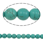 Turquoise Beads, Round, blue, 10mm, Hole:Approx 1.5mm, Length:Approx 15.7 Inch, 10Strands/Lot, 41PCs/Strand, Sold By Lot
