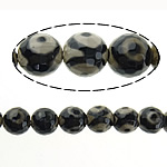 Natural Tibetan Agate Dzi Beads, Round, faceted, 14mm, Hole:Approx 1.2-1.5mm, Length:Approx 14.5 Inch, 5Strands/Lot, Approx 26PCs/Strand, Sold By Lot