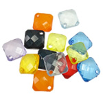 Acrylic Pendants, Rhombus, translucent, mixed colors, 18x6mm, Hole:Approx 2.5mm, 5KG/Lot, Sold By Lot