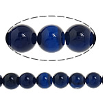 Natural Blue Agate Beads, Round, 10mm, Hole:Approx 1-1.2mm, Length:Approx 15 Inch, 5Strands/Lot, Sold By Lot