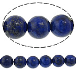 Natural Lapis Lazuli Beads, Round, 10mm, Hole:Approx 1mm, Length:Approx 15 Inch, 5Strands/Lot, Approx 37PCs/Strand, Sold By Lot