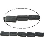 Natural Black Stone Beads, Rectangle, 18x6.5x6-18x11.5x4.5mm, Hole:Approx 1.5mm, Approx 21PCs/Strand, Sold Per Approx 15 Inch Strand