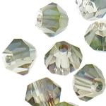 Imitation CRYSTALLIZED™ Element Crystal Beads, Bicone, imitation CRYSTALLIZED™ element crystal, Greige, 4mm, Hole:Approx 1mm, 720PCs/Bag, Sold By Bag