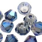 Jäljitelmä CRYSTALLIZED™ kristalli helmiä, Bicone, värikäs päällystetty, jäljitelmä CRYSTALLIZED™n, 4mm, Reikä:N. 1mm, 720PC/laukku, Myymät laukku