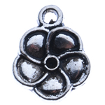 Zinc Alloy Pendant Rhinestone Setting Flower antique silver color plated nickel lead   cadmium free 14x11x2mm Hole:Approx 2mm Inner Diameter:Approx 1mm Approx 1000PCs/KG