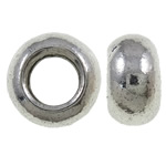 Zinc Alloy Jewelry Beads, Rondelle, antique silver color plated, without troll, nickel, lead & cadmium free, 10x5mm, Hole:Approx 5mm, Approx 900PCs/KG, Sold By KG