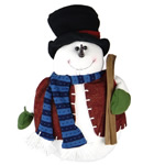 Fashion Decoration, snowman shape, Christmas holiday style, velveteen & wood material, 2x220mm, Sold by PC