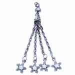 Zinc Alloy Chain Tassel, antique silver color plated, nickel, lead & cadmium free, 77x8mm, Hole:Approx 2.5mm, Length:3.0 Inch, Sold By PC