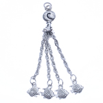Zinc Alloy Chain Tassel, antique silver color plated, nickel, lead & cadmium free, 75x10x9mm, Hole:Approx 2.5mm, Length:2.9 Inch, Sold By PC