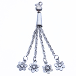 Zinc Alloy Chain Tassel, antique silver color plated, nickel, lead & cadmium free, 70x8mm, Hole:Approx 2.5mm, Length:2.7 Inch, Sold By PC