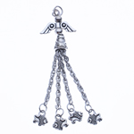 Zinc Alloy Chain Tassel, antique silver color plated, nickel, lead & cadmium free, 75x20x8mm, Hole:Approx 2.5mm, Length:2.9 Inch, Sold By PC