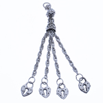 Zinc Alloy Chain Tassel, antique silver color plated, nickel, lead & cadmium free, 75x8mm, Hole:Approx 2.5mm, Length:2.9 Inch, Sold By PC