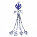 Zinc Alloy Chain Tassel, antique silver color plated, nickel, lead & cadmium free, 85x22.50x7.50mm, Hole:Approx 2.5mm, Length:3.3 Inch, Sold By PC