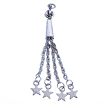 Zinc Alloy Chain Tassel, antique silver color plated, nickel, lead & cadmium free, 77x7.50mm, Hole:Approx 2.5mm, Length:3.0 Inch, Sold By PC