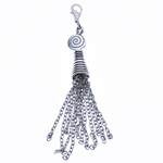 Zinc Alloy Chain Tassel, antique silver color plated, nickel, lead & cadmium free, 93x10mm, Hole:Approx 4x3.5mm, Length:3.1 Inch, Sold By PC