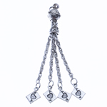 Zinc Alloy Chain Tassel, antique silver color plated, nickel, lead & cadmium free, 80x10mm, Hole:Approx 2.5mm, Length:3.1 Inch, Sold By PC