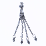 Zinc Alloy Chain Tassel, antique silver color plated, nickel, lead & cadmium free, 75x10mm, Hole:Approx 2.5mm, Length:2.9 Inch, Sold By PC