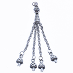 Zinc Alloy Chain Tassel, antique silver color plated, nickel, lead & cadmium free, 70x7mm, Hole:Approx 2.5mm, Length:2.7 Inch, Sold By PC
