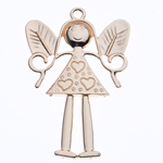 Character Shaped Zinc Alloy Pendants, Girl, gold color plated, nickel, lead & cadmium free, 78x50x4mm, Hole:Approx 4mm, Sold By PC