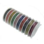Drut tygrysi ogon, Drut jubilerski, ze Szpulka plastikowa, mieszane kolory, 0.45mm, 10komputery/wiele, 50m/PC, sprzedane przez wiele