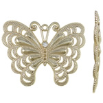 Zinc Alloy Animal Pendants, Butterfly, gold color plated, lead & cadmium free, 64.50x51x2mm, Hole:Approx 3mm, Sold By PC
