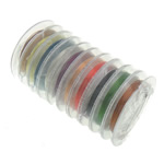 Copper Wire, Brass, with plastic spool, mixed colors, nickel, lead & cadmium free, 0.30mm, 10PCs/Lot, 10m/PC, Sold By Lot