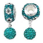 CRYSTALLIZED™ Element Crystal Pendants, without troll, Emerald, 14x8mm, 8mm, Hole:Approx 4.5mm, Sold By PC