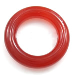 Wisior z czerwonym agatem, Agat czerwony, Pączek, 22x22mm, średnica wewnętrzna:około 13.5mm, 20komputery/torba, sprzedane przez torba