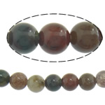 Natural Indian Agate Beads, Round, laterite, 4mm, Hole:Approx 0.8-1mm, Length:Approx 16 Inch, 10Strands/Lot, Sold By Lot