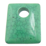 Turquoise Pendant, Rectangle, green, 40x50x11mm, Hole:Approx 12.5mm, 20PCs/Lot, Sold By Lot